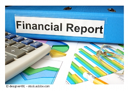 Image of financial report documents